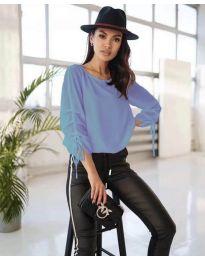Елегантна дамска блуза в светлосиньо - код 5165