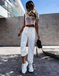 Дамски панталон в бяло - код 11803