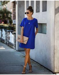 Свободна изчистена рокля в синьо - код 253
