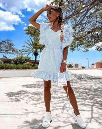 Феерична рокля в светлосиньо - код 2657