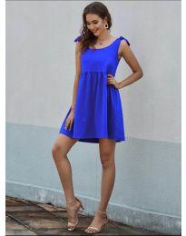 Изчистена рокля в синьо - код 2255