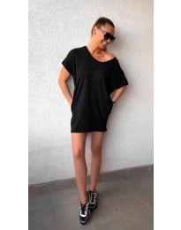 Свободна рокля в черно - 3080