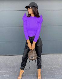 Стилна дамска блуза в лилаво - код 2838