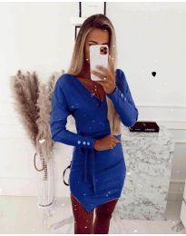 Дамска рокля в тъмно синьо - код 2077