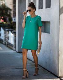 Свободна дамска рокля в зелено - код 4408