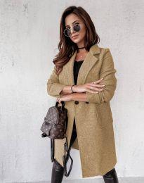 Дамско палто в бежово - код 0964