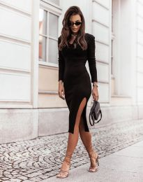 Изчистена дамска рокля в черно - код 6593