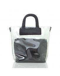 Дамска чанта със змийски десен в черно - код DD-570