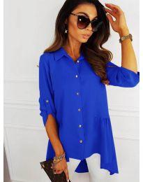 Асиметрична риза в синьо - код 5689
