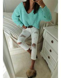 Дамски пуловер в зелено - код 8768