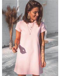 Изчистена рокля в розово - код 2299