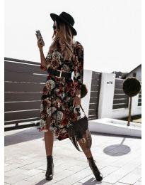 Дамска рокля с атрактивни мотиви - код 8366 - 3