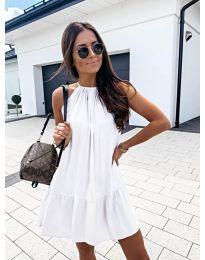 Феерична рокля в бяло - код 632