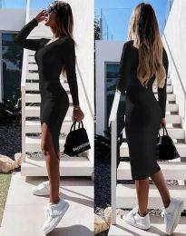 Стилна дамска рокля в черно - код 8291