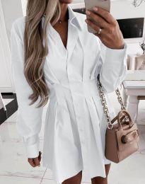 Елегантна дамска рокля в бяло - код 8141