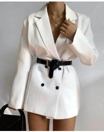 Дамско сако в бяло - код 6919