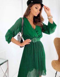 Атрактивна дамска рокля в зелено - код 3497