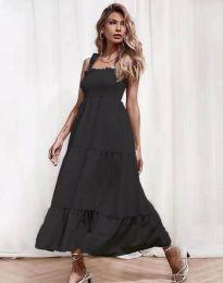 Ефирна дамска рокля в черно - код 1729