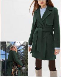 Дамско палто в тъмно зелено - код 3113