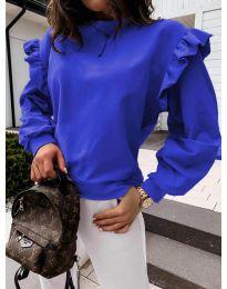 Дамска блуза в тъмно синьо - код 6613