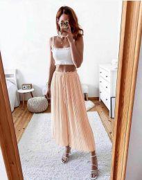 Дамски панталон в цвят праскова - код 9406