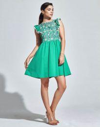 Кокетна рокля в зелено - код 1482