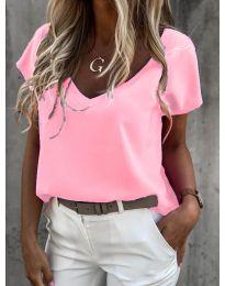 Дамска тениска в розово - код 0589