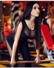 Спортен дамски гащеризон в черно - код 2069