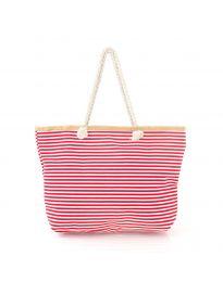 Червена плажна чанта на райе - код H-9030