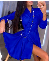 Елегантна рокля в тъмно синьо - код 2428