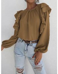 Елегантна блуза в кафяво - код 0509