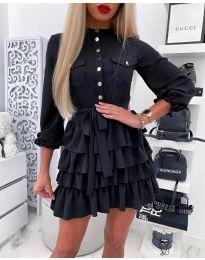 Атрактивна рокля в черно - код 7356
