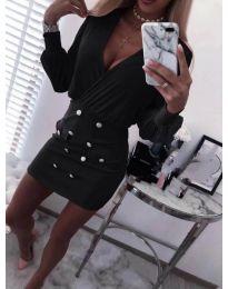 Дамска къса рокля в черно - код 848