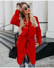 Дамско палто в червено - код 814