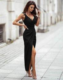Стилна дамска рокля в черно - код 6135