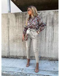 Елегантен панталон в бежово - код 788