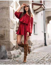Свободна рокля в червено - код 324