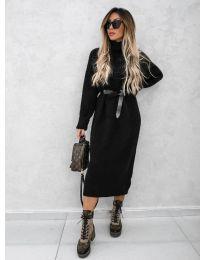 Дълга рокля в  черно - код 0590