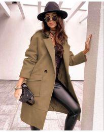 Дамско палто в кафяво - код 7278