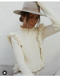 Дамска блуза в бяло - код 9656