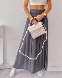 Дълга дамска пола в сиво - код 2667
