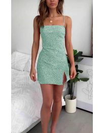 Елегантна рокля в цвят мента - код 2013