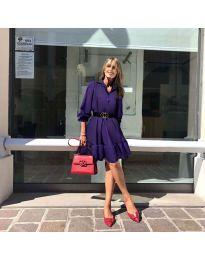 Атрактивна свободна рокля в тъмно лилаво - код 960