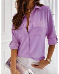 Класическа дамска риза в лилаво - код 450