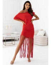 Атрактивна дамска рокля в червено - код 12003