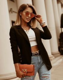 Дамско сако в черно - код 2900 - лице