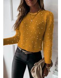 Дамска блуза в цвят горчица - код 419