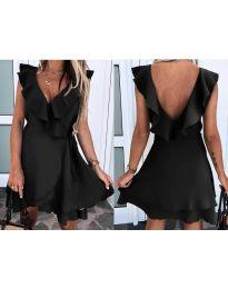 Екстравагантна рокля в черно - код 7799