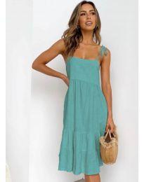 Дамска рокля в цвят мента - код 630