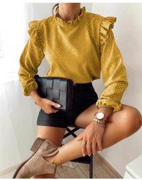 Дамска блуза в цвят горчица - код 5455